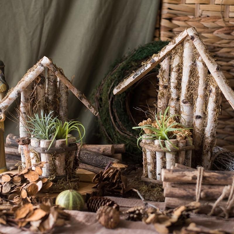 Maceta de madera con soporte para maceta de plantas, Macetas de madera...