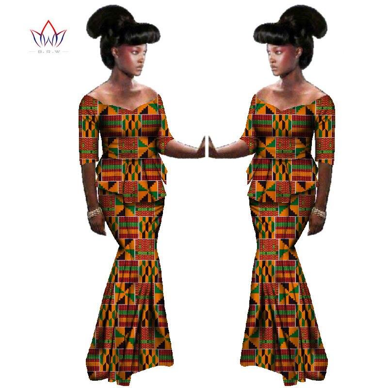 2020 летняя африканская традиционная одежда с коротким рукавом африканская женская одежда Дашики комплект из двух предметов натурального ра...