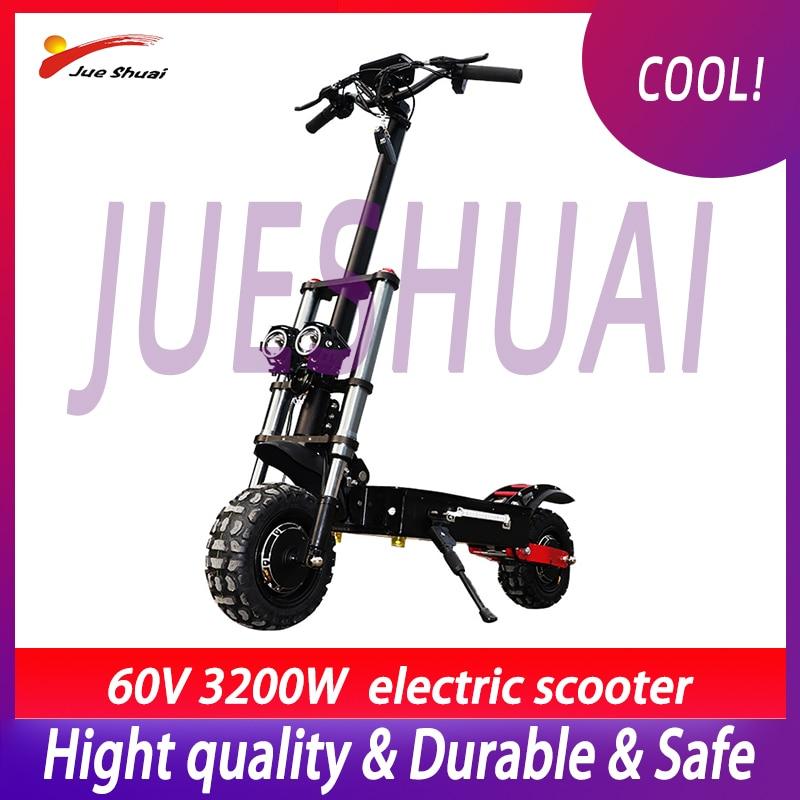 E Scooter 3200W 60V con 80 km/h de alta velocidad potente Motor doble rueda Scooter Eléctrico adultos Patinete eléctrico plegable