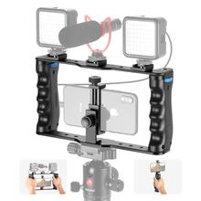 Equipo de vídeo para teléfono inteligente de aluminio Neewer, estuche de película, soporte trípode estabilizador de vídeo para videocámara