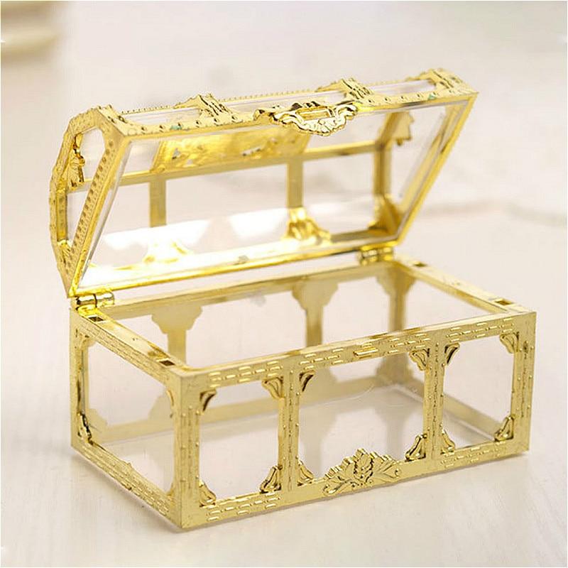 5/10pcs Jewelry Casket Box Crystal Gem Candy Box Storage Organizer Chest Box Pirate Treasure for Trinkets Mini Makeup Case Gifts