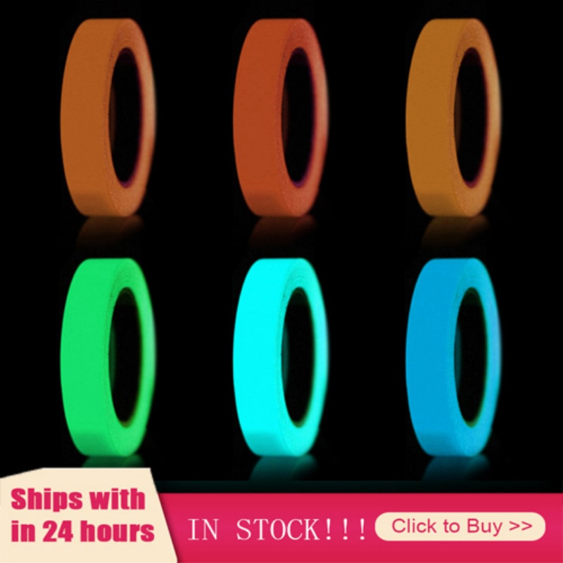 Luminous Tape Self-adhesive Tape Night Vision Glow In Dark Safety Warning Security Stage Home Decora