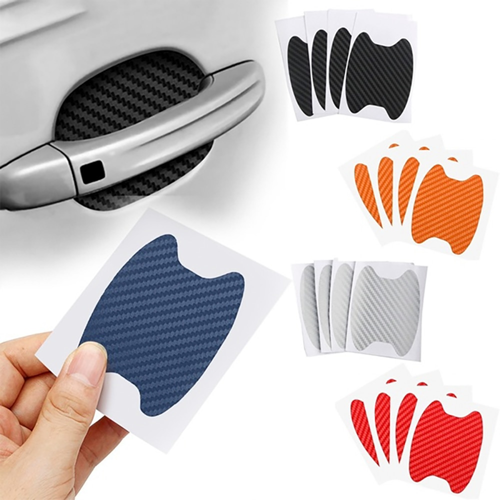 2020 4Pcs/Set Car Door Sticker Scratches Resistant Cover Auto Handle Protection Film Exterior Accessory  Car Decor  Car Stickers