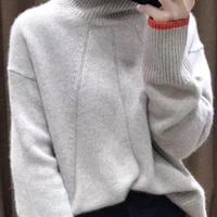 women sweaters 2020 winter new woman double thickening loose turtleneck cashmere jumper female long sleeve casual knit pullover