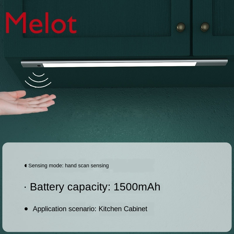 Wireless Smart Hand Sweep Cabinet Light Led under-Cabinet Lamp Charging Wiring Free Kitchen Induction Strip Night