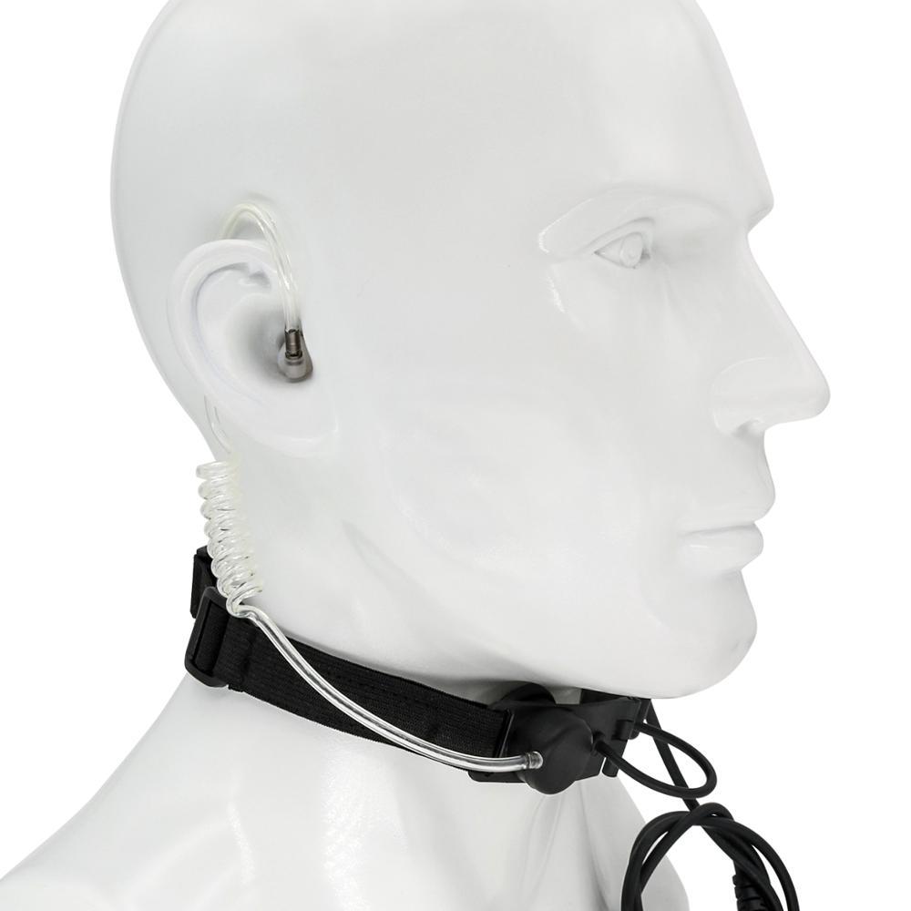 Tactical headset throat microphone vacuum sounding CS headset portable radio microphone neckband hunting air gun throat headset