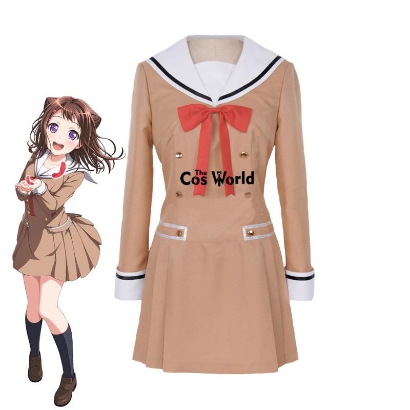زي مدرسي من بانج دريم توياما كاسومي هانازونو تاي يامابوكي سايا ، بدلة بحار ، فستان أنيمي مخصص ، أزياء تنكرية