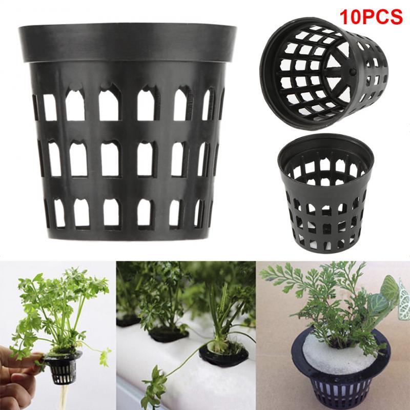 Malla portátil, maceta, vaso con malla, cesta para cultivo de plantas, flores, talla M, macetas para cultivo de césped, macetas para plantar agua