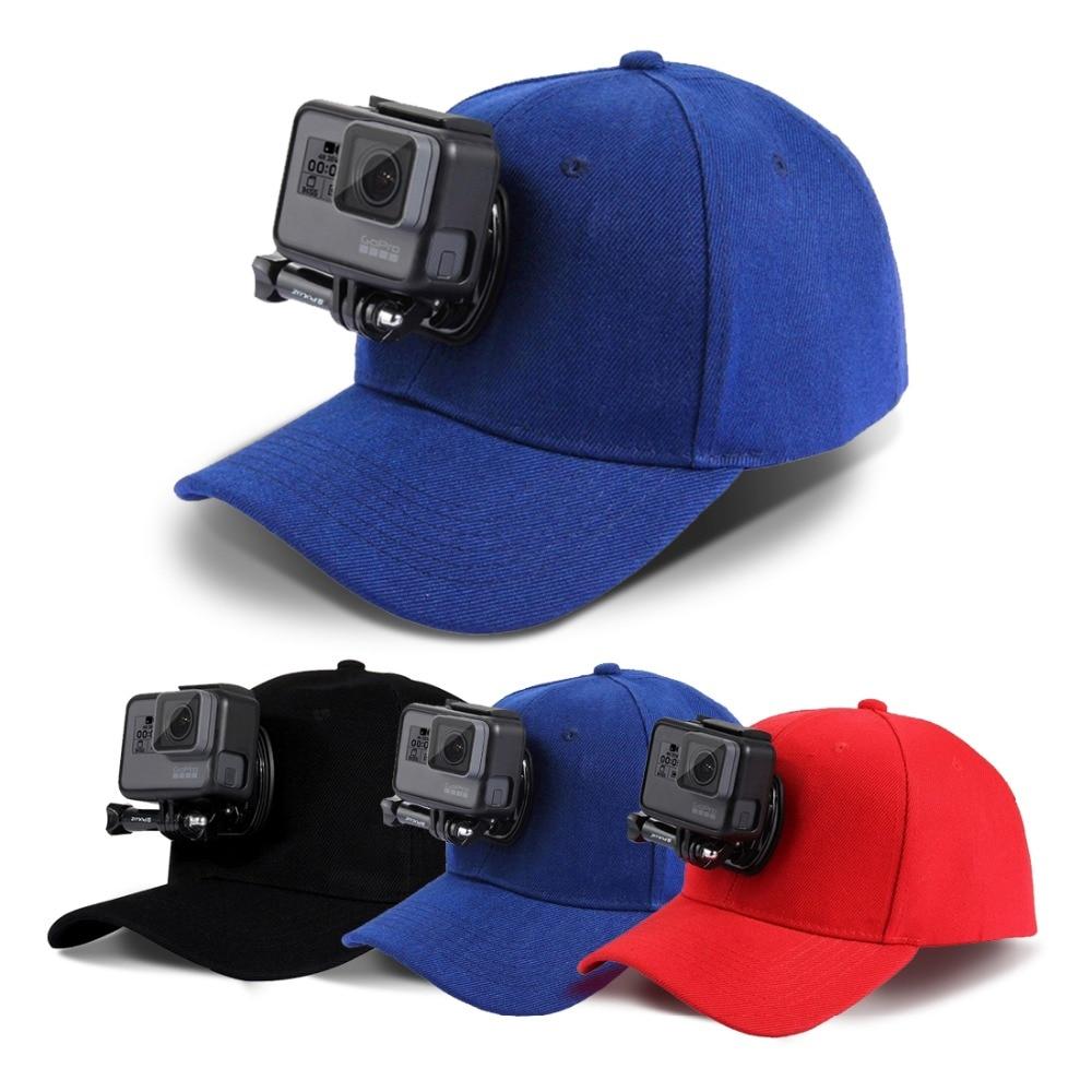 Sports Camera Hat with Screws & J Stent Holder Mount Canvas Sun Cap Hat for GoPro Hero 5 4 3 SJCAM SJ7 SJ6 M20 Eken H9 H8 Yi 4K enlarge