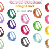 extremely soft silicone straps for xiaomi mi band 6 5 wristband bracelet replacement miband 4 3 wrist pure color strap watchband