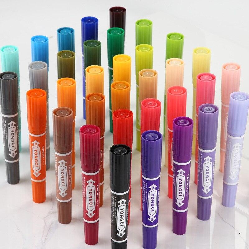 8/12/24/36 couleurs Art marqueurs ensemble double tête artiste croquis huileux à base dalcool marqueurs dessin pour Animation marqueur stylo marqueur