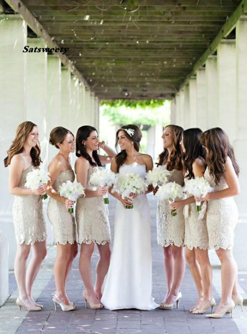 فستان العروسة من الدانتيل ، فستان العروسة ، قصير ، أنيق ، هالتر ، فستان سهرة