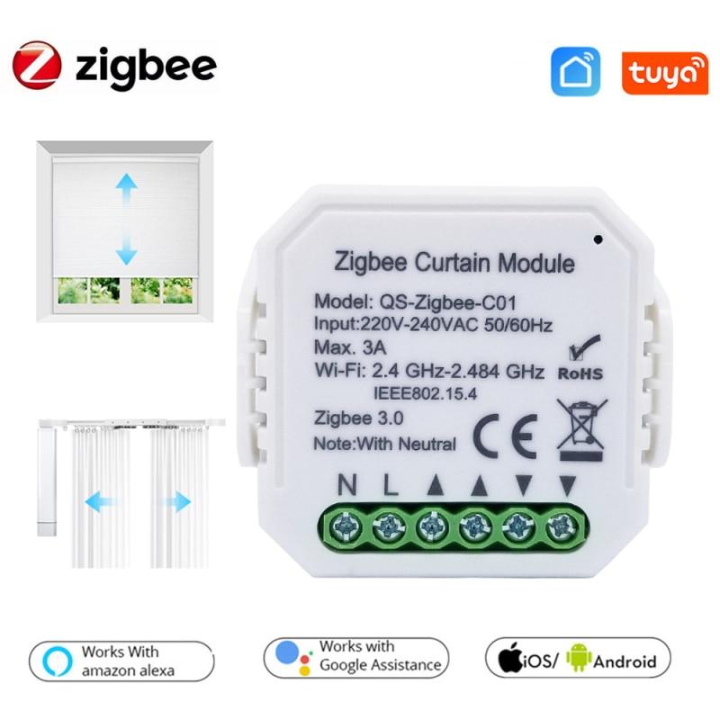 زيجبي 3.0 تويا الذكية الستار وحدة تبديل ، 1/2/3/4/5/10 قطعة ، ل الأسطوانة مصراع أعمى المحرك DIY بها بنفسك الذكية APP التحكم الصوتي