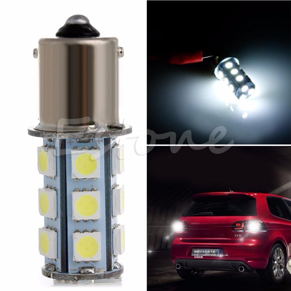 1156 ba15s 382 p21w 18 smd 5050 led sinal de freio da cauda do carro lâmpada branca para barra led
