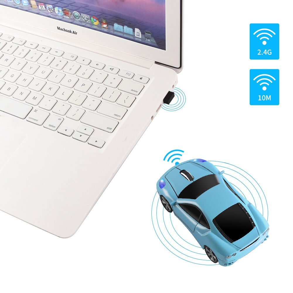 Ergonomic Gaming Mouse 2.4Ghz 1600 DPI USB Optical Mice Mini Car Shape Computer Mice 3D Portable Wireless Mouse For Laptop PC