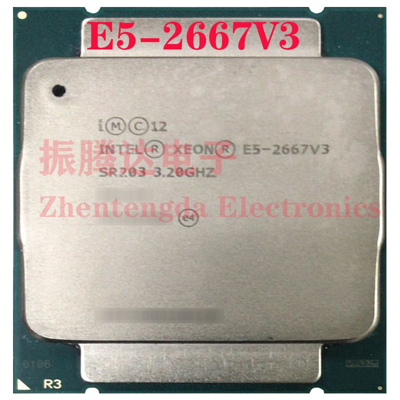 Intel Xeon E5-2667 v3 Processor 3.2GHz 20MB 8 Core 16 Thread LGA 2011-v3 E5-2667v3 CPU Processor