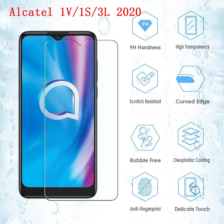Tempered Glass Case For Alcatel 1V 1S 3L 1S 1 V 3 L 2020 Screen Protector 9D Mobile Phone Guard LCD Front Film For Alcatel