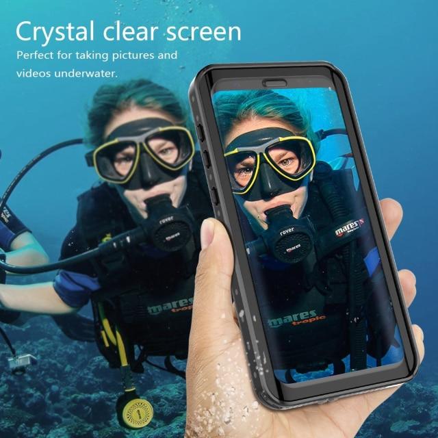 Waterproof Case for Samsung Galaxy S10 S9 S8 Plus Note 9 Note 8 Case Shockproof Outdoor Sport Swim C