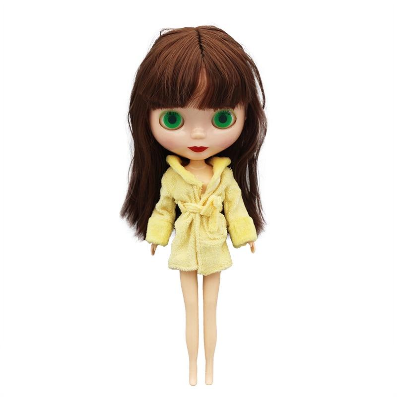 Желтый теплый костюм, кукольная одежда, подходит для Блай, кукольная одежда и аксессуары, игрушка