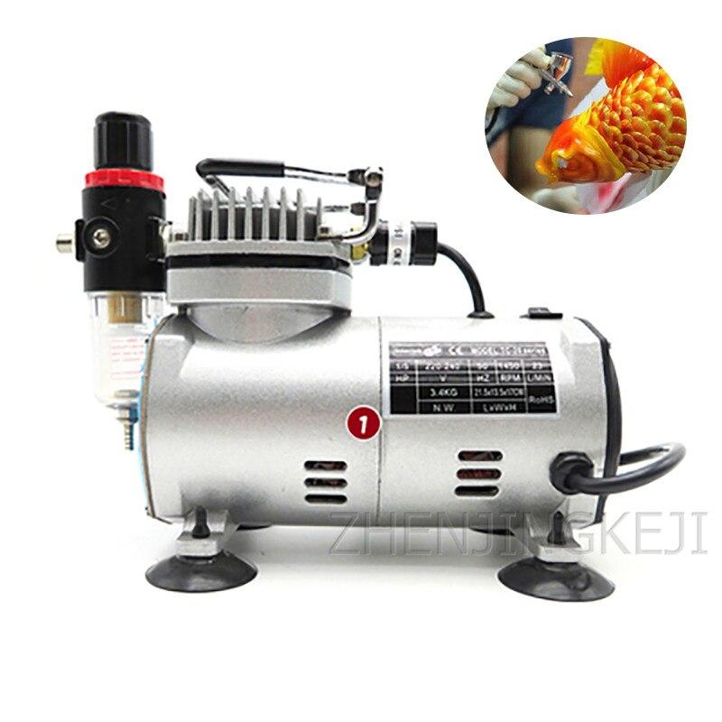 110V 220V воздушный компрессор  Mini Air compressor насос высокого давления  компрессор Airbrush Air Pump Furniture Repair Tools