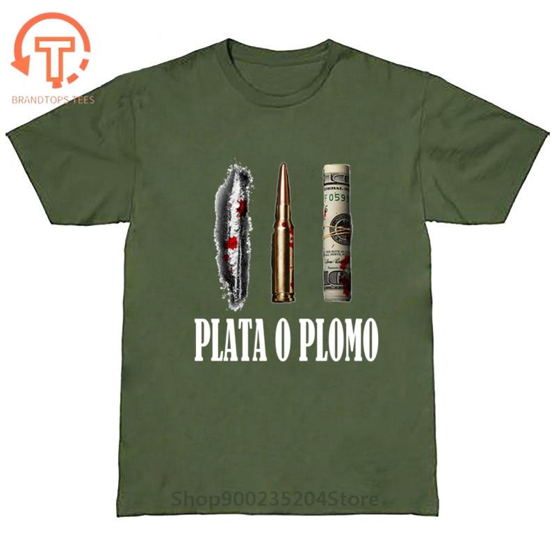 Camisetas de estilo Popular y clásico para hombre, camisas de Plata O...