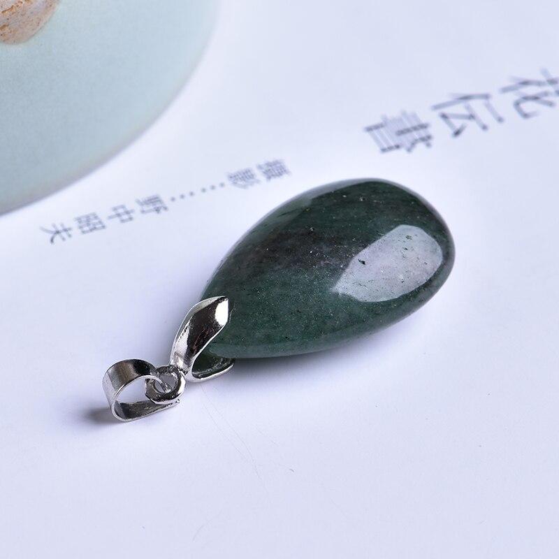 1 pieza colgante de gota de roca natural de moda amor amistad pareja decoración moda tendencia regalo collar con colgante