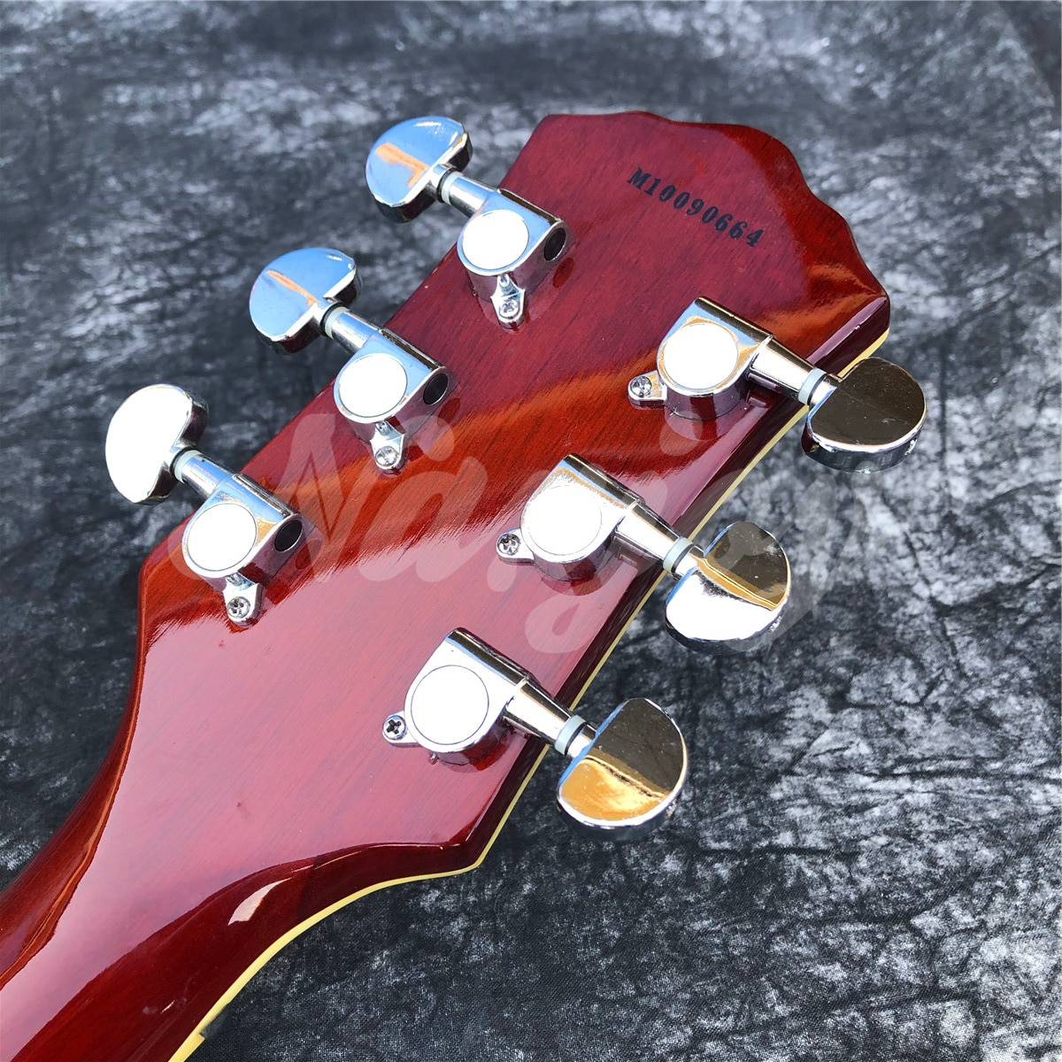 2021 New Glossy Orange Flame Maple 6 String Electric Guitar,Solid Mahogany Body Guitar,Real Photos enlarge