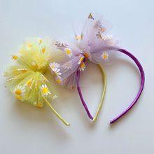 Clip de presión de hilo de red para niños, accesorios para el cabello, horquilla de lazo de moda simple, novedad