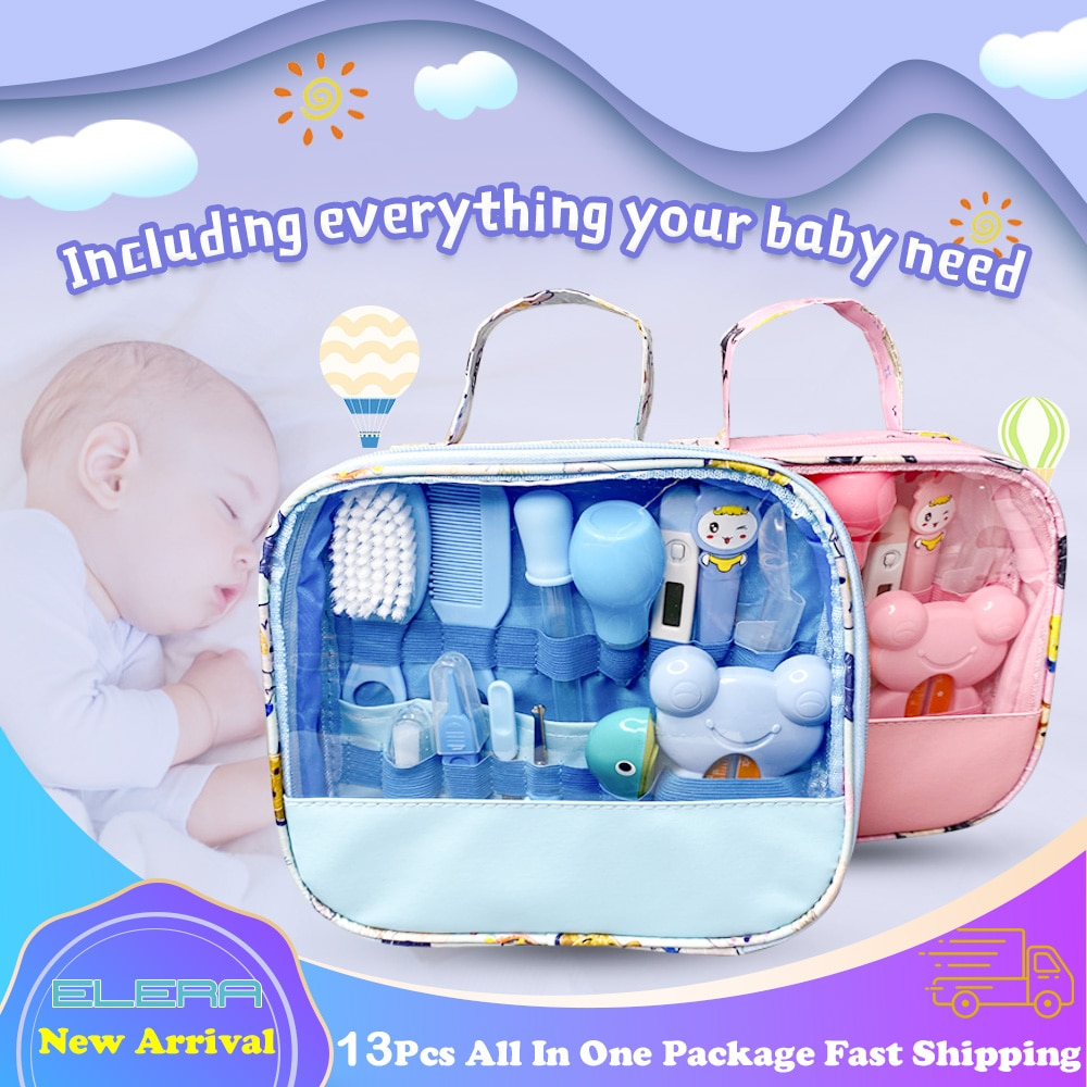 ELERA Baby Care Kit Nose Cleaner Safety Tools For Newborn Hygiene Kits Grooming Set Nail Hair Clipper Scissor Comb
