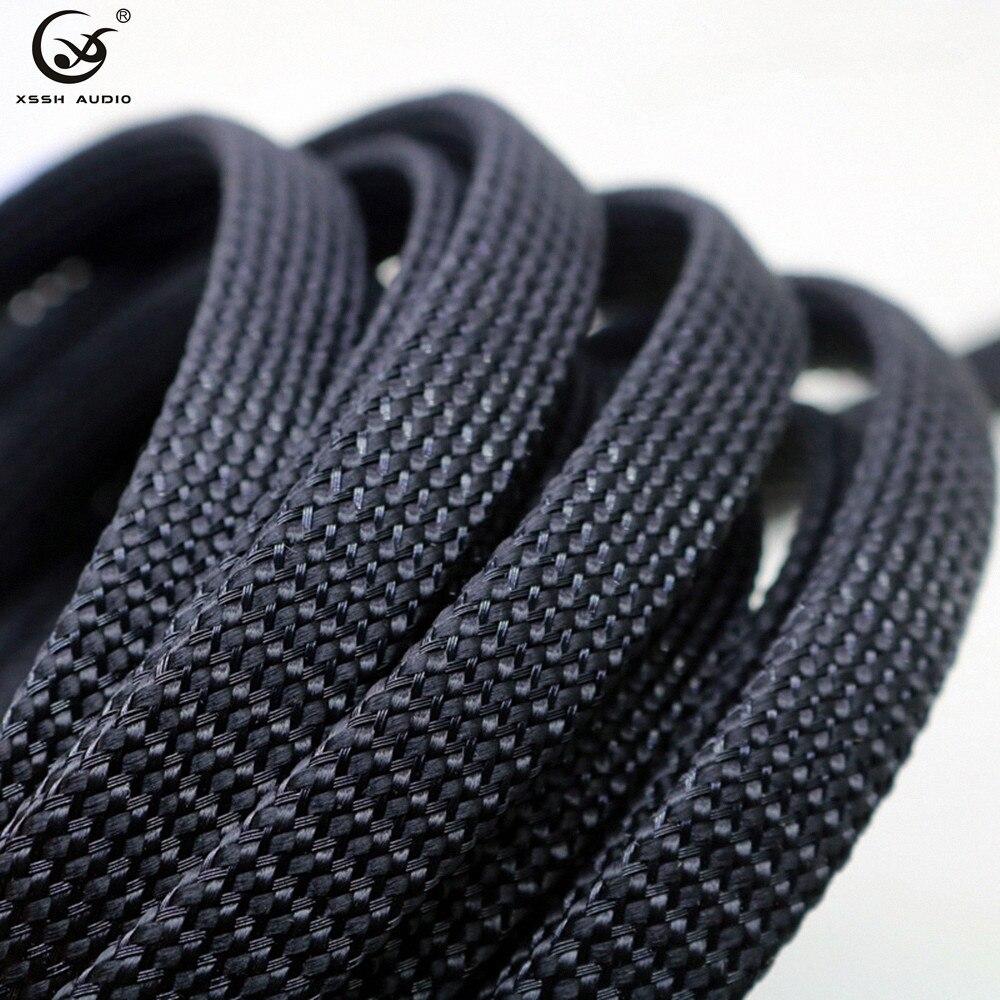 Manga de cable de manga trenzada, amortiguador especial de nylon y algodón negro de 10m/20m 5mm 8mm 15mm 20mm 25m