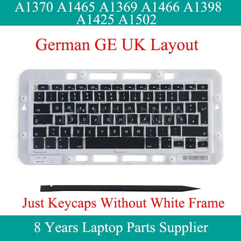 Original GE EU UK Keycap Key Cap For Macbook Air Pro A1370 A1465 A1369 A1466 A1398 A1425 A1502 German Keyboard Keycap Key Caps