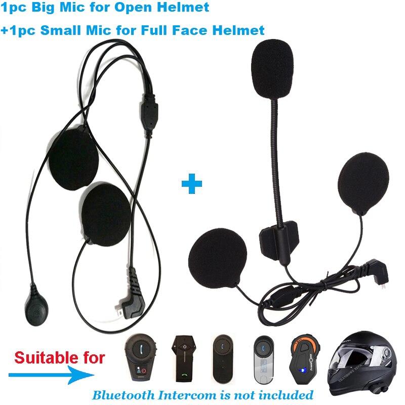 Microfone fone de ouvido ouvido alto-falante acessórios terno para freedconn T-COM02 T-COMVB TCOM-SC bluetooth capacete intercom fone de ouvido peças
