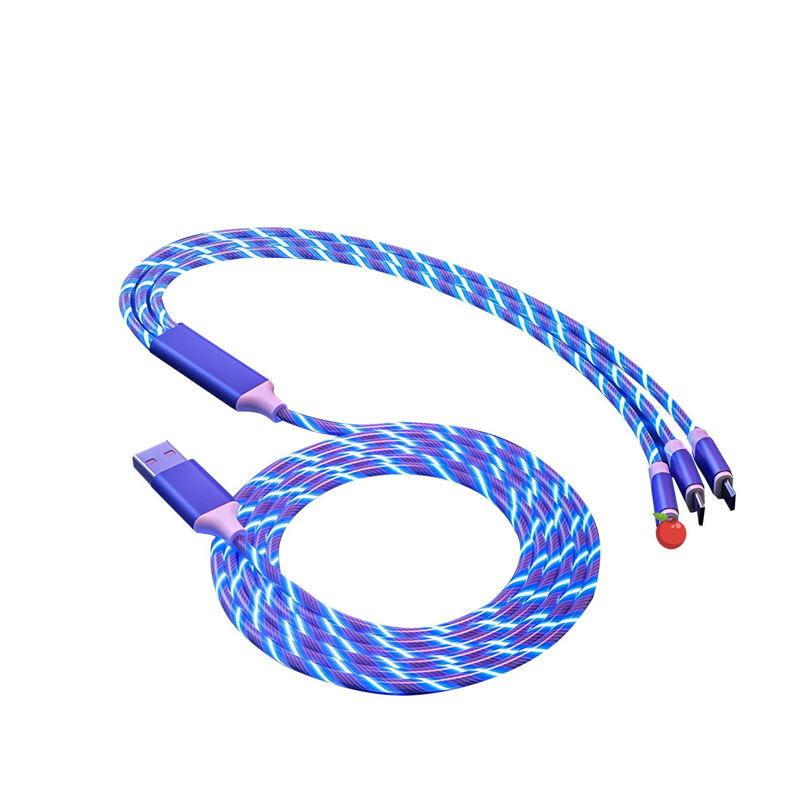 Cable de carga tipo C 3 en 1, Cable USB LED luminoso,...