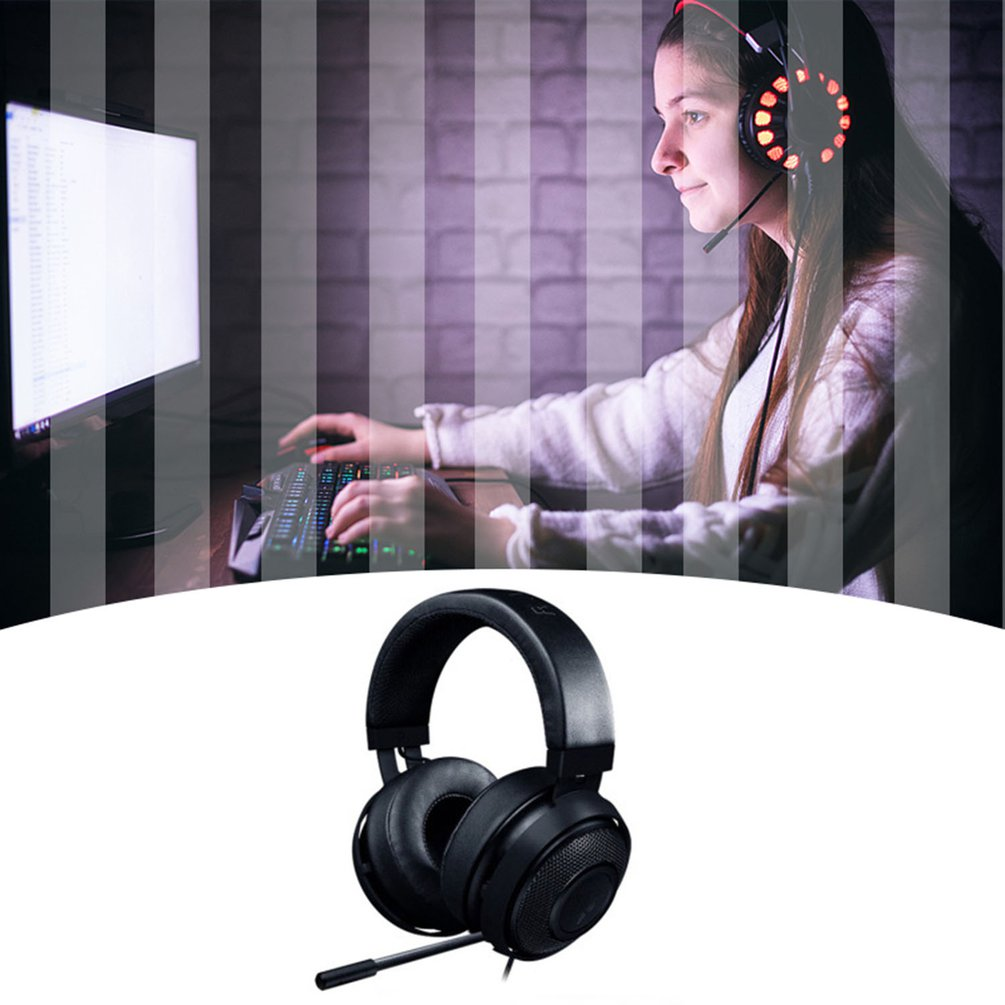 Kraken Pro V2 Wired Head-Mounted Gaming Headset 3.5mm Wired Lightweight Gaming Headset Laptop PS4 Player with Microphone enlarge