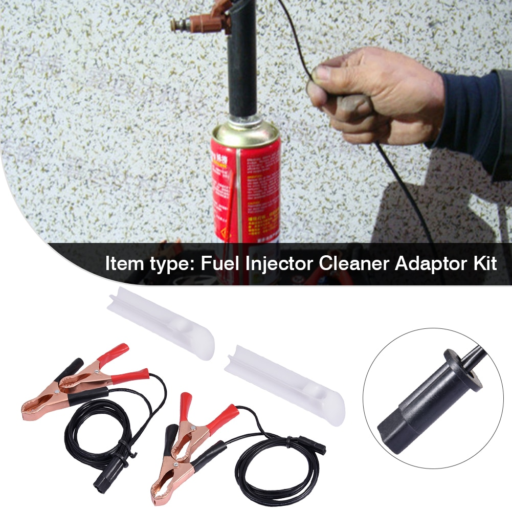 Manual Fuel Injector Cleaning Tool Gasoline Tester Adapter Kit For 12/24V Cars Motorcycles