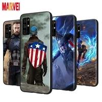 fashion captain america art soft tpu cover for huawei honor 8s 8c 8x 8a 8 7s 7a 7c 7 pro prime ru max 2020 2019 black phone case