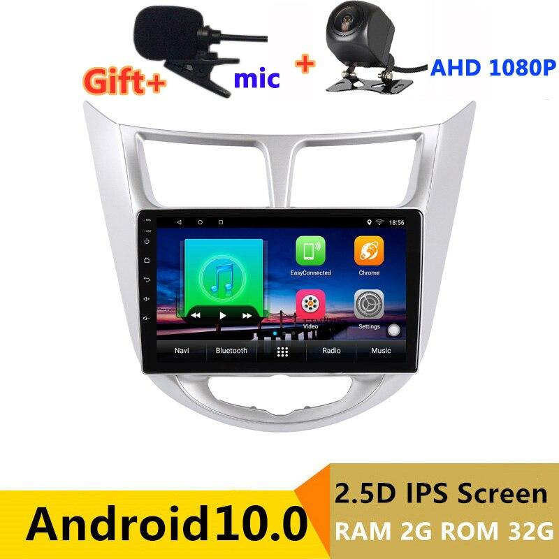 Reproductor Multimedia de DVD para coche Android 10 GPS para Hyundai Solaris accent Verna i25 2010-2016