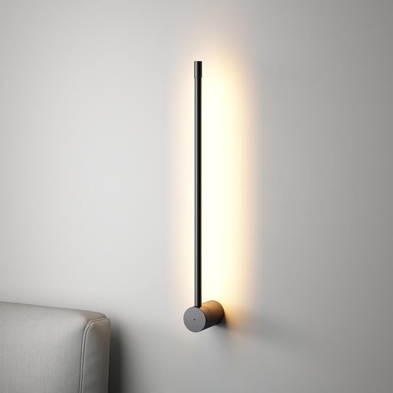 Lámpara de pared larga minimalista nórdica luz LED moderna de pared sala de estar interior dormitorio LED lámpara de noche decoración del hogar accesorios de iluminación