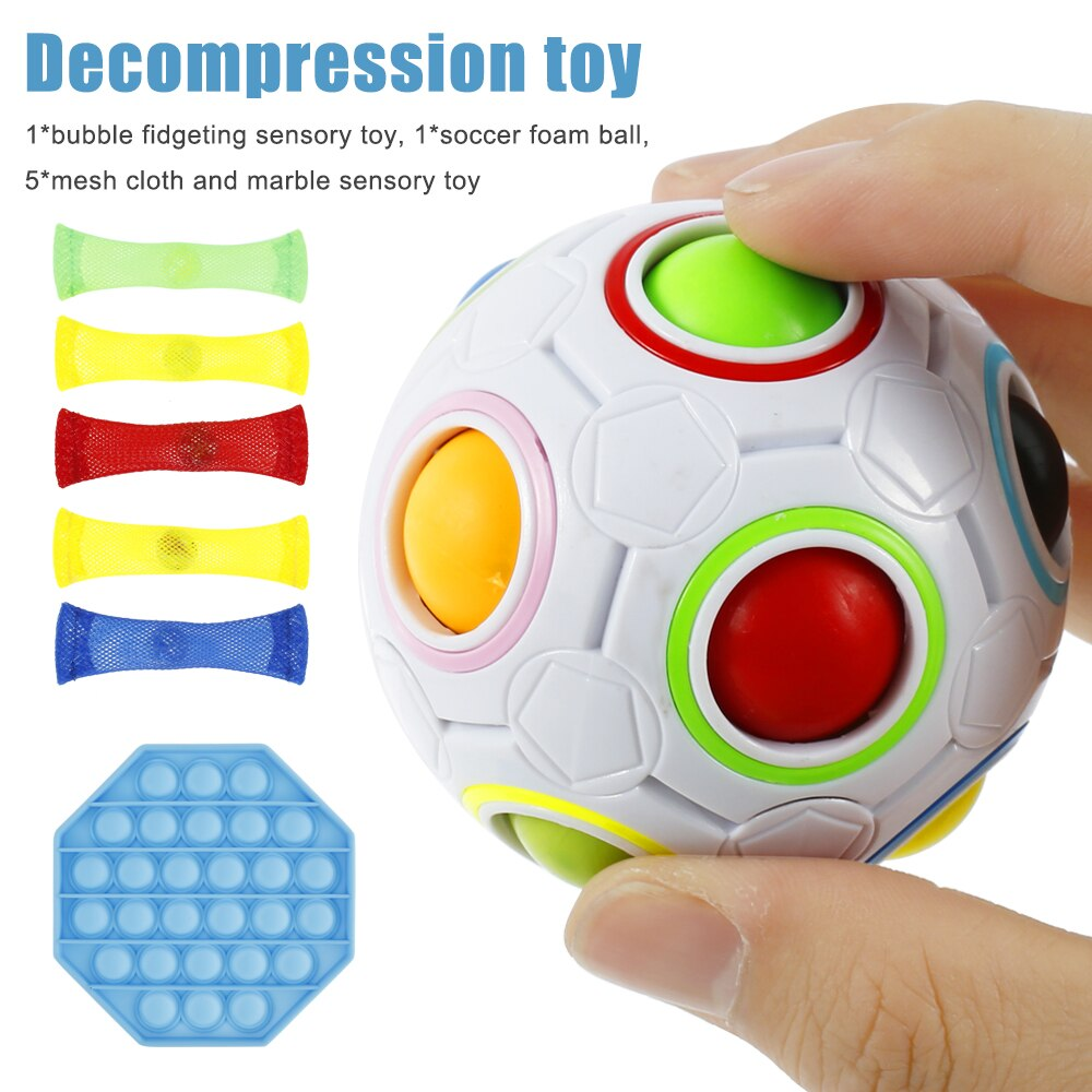 Bubble Fidget Sensory Toy Funny Popit Fidget Toy Antistress Toys For Adult Children Push enlarge