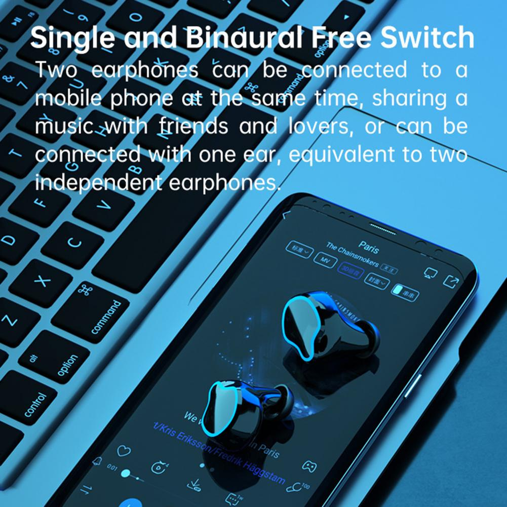 M9 TWS Wireless Bluetooth Earphones Headphones Touch Control In-Ear Noise Reduction Music Gaming Headset With LED Power Display enlarge