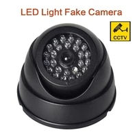 dummy camera fake dome camera cctv security camera indoor with flashing red led light fake camera cctv surveillance for home