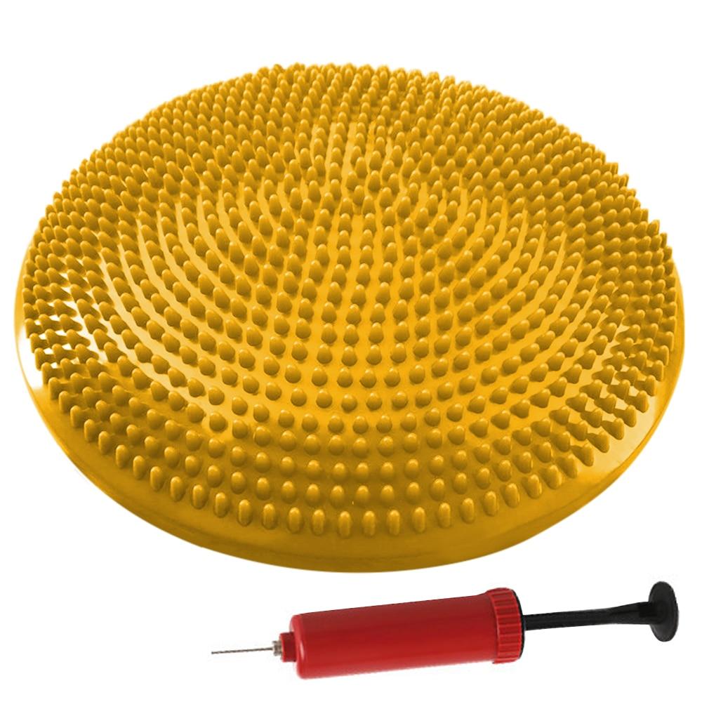 33CM disco de equilibrio de Yoga disco de equilibrio casero inflable amortiguador de oscilación de estabilidad bolas de Yoga cojín de masaje portátil