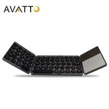 AVATTO nuevo B033 portátil Bluetooth Mini teclado plegable, plegable BT teclado táctil inalámbrico para IOS/Android/ventana ipad Tablet