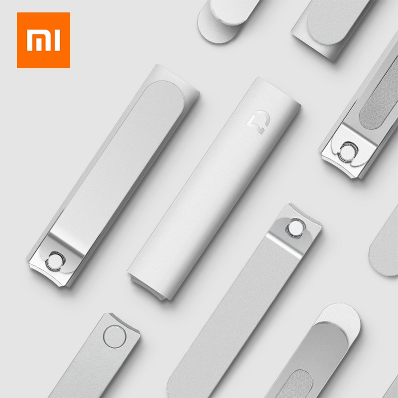 Xiaomi Mijia Original Stainless Steel Nail Clippers With Anti-splash cover Trimmer Pedicure Care Nail Clippers Professional File