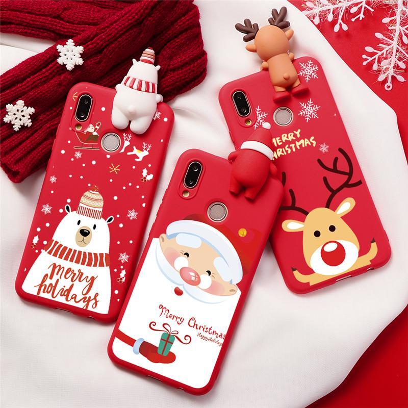 Чехол с рождественскими подарками для Huawei Nova 3 3i 5 5i Pro P8 P9 P10 P30 P20 Lite Pro 2017 P Smart 2019 новогодний чехол с Санта Клаусом