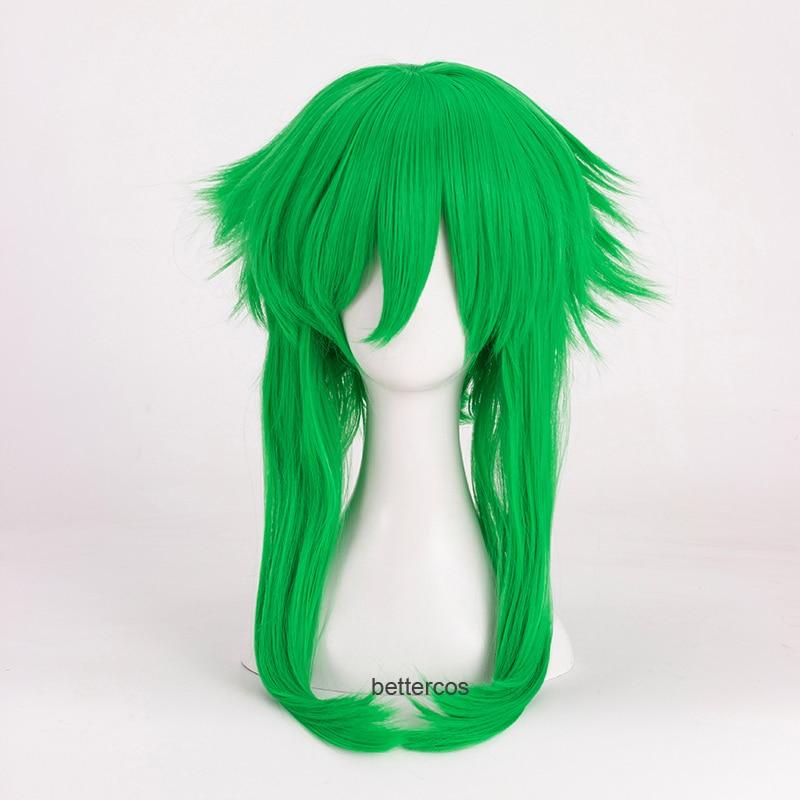 VOCALOID Megpoid Gumi Peluca de Cosplay Anti-Alice hierba verde resistente al calor Peluca de pelo sintético + tapa de la peluca