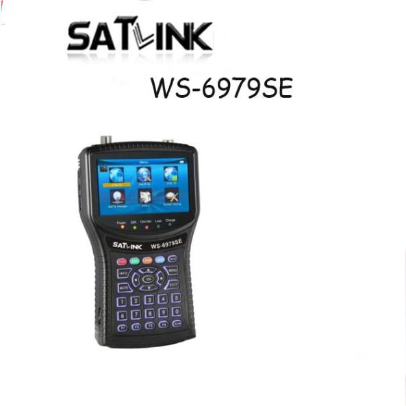 Satlink WS-6979SE DVB-S2 DVB-T2 MPEG4 HD COMBO espectro satélite Metro Finder