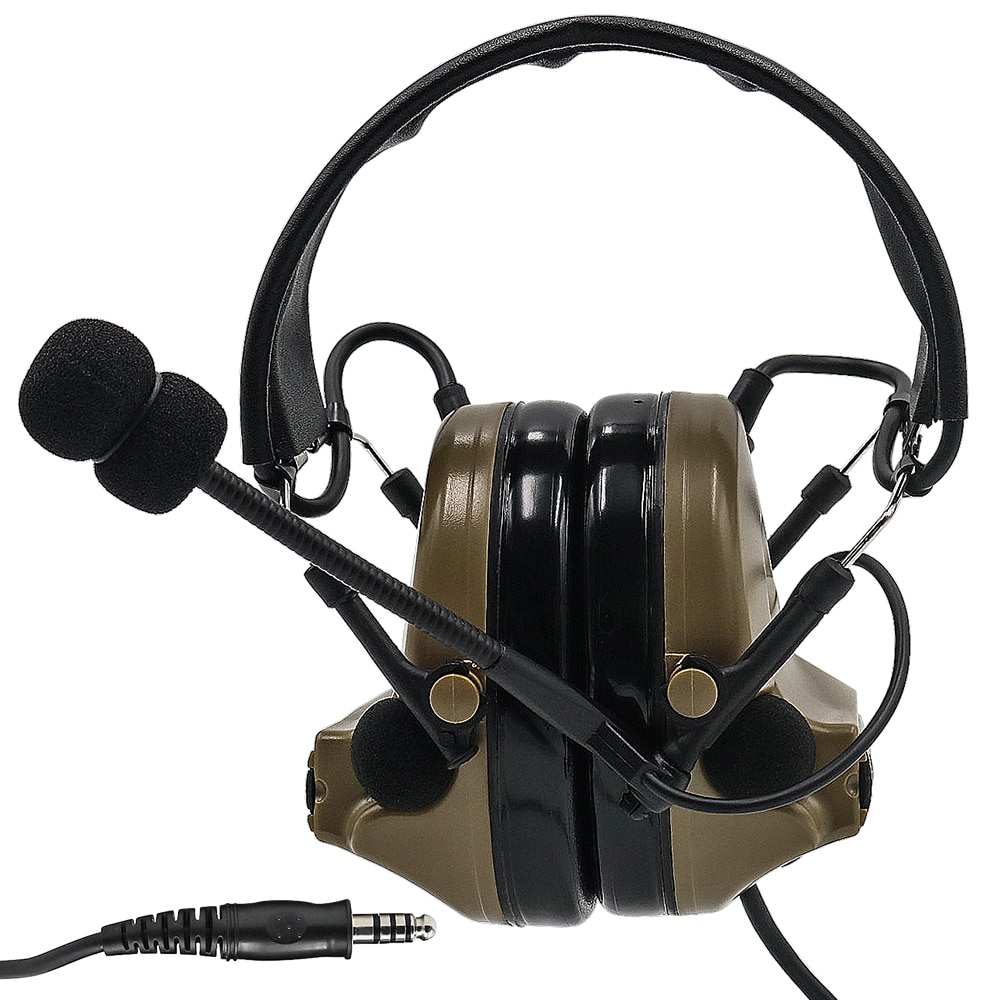 TCIHEADSET Tactical Headset COMTAC II Airsoft Military Pickup Noise Reduction Headphone Hunting Hearing Protection Earmuf