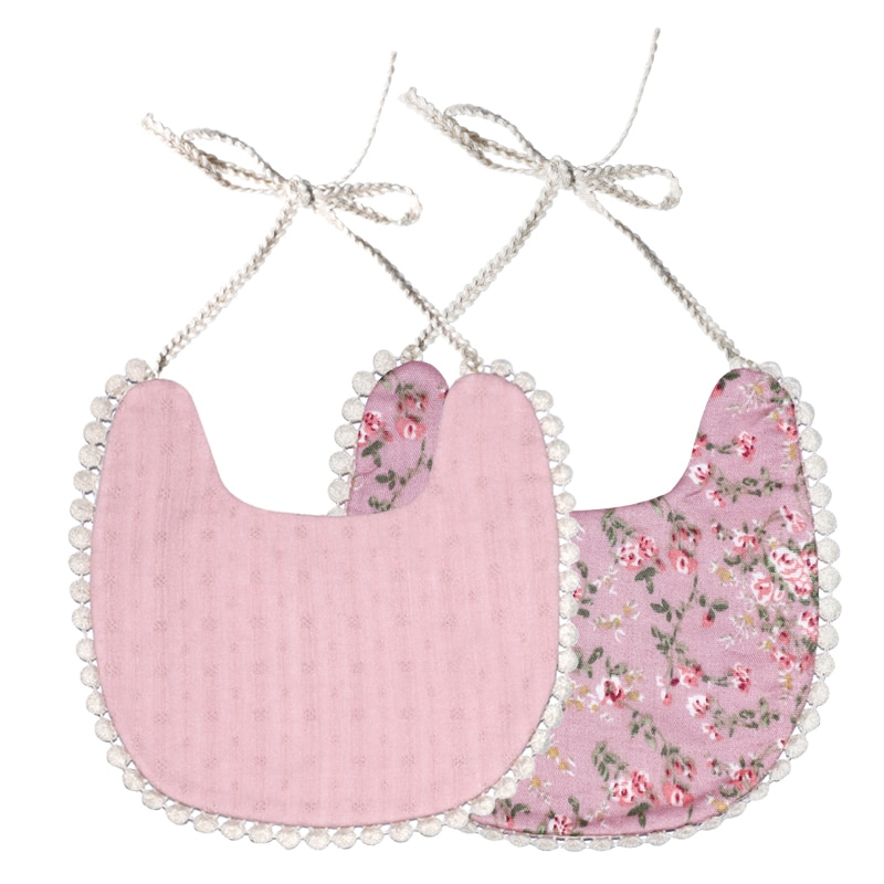 Babadores de bebê floral saliva 38 tipos toalha do vintage recém-nascido fotografia bibs lado duplo adereços bandana campo traje arroto