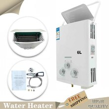 6L Natural Gas Tankless Water Heater LNG Home Kitchen Instant Hot Water Heater Boiler Portable Water